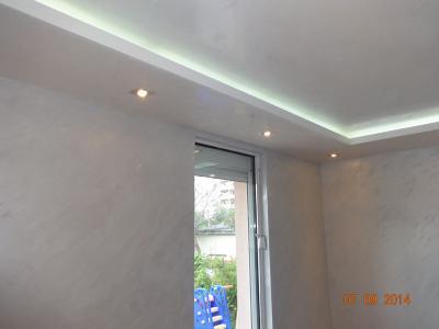 Ремонт на стая - окачен таван с LED осветление