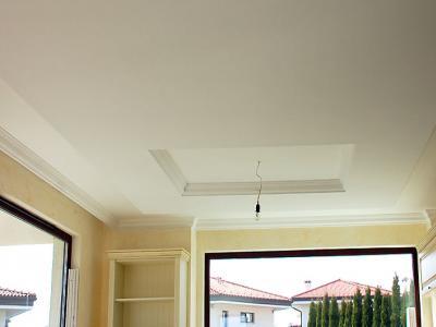 Изработка на окачен таван, монтаж на корнизи